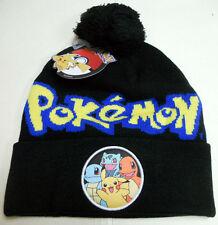 POKEMON Charmander PIKACHU Squirtle BULBASAUR knit beanie HAT Pokemon Go starter