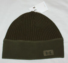 Under Armour Women's Olive Green Ribbed/Fleece Beanie Hat Sz OS  **