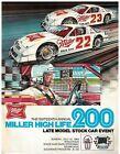 1983  Miller High Life  200  Race Program Milwaukee