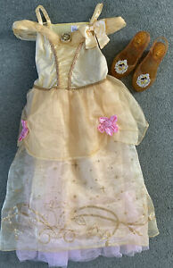 Disney Store Princess Belle Dress And Light Up Shoes Age 5-6 Years