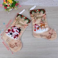 Details about  /Christmas Stockings Gift Bags With Small Size Plush Animal L3