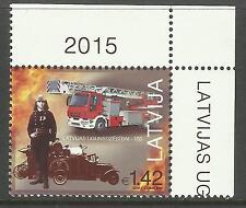 LATVIA 2015 FIRE FIGHTING ANNIV 1v MNH