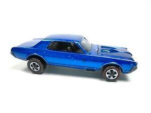 HOT WHEELS REDLINE CUSTOM COUGAR BLUE USA VINTAGE DIECAST TOY CAR  NO RESERVE !