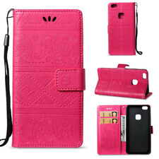 Elephant Embossed Folded PU Leather Magnetic Flip Wallet Case Cover For Various