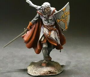 Knight-crusader tin soldier 75 mm  HAND-PAINTED