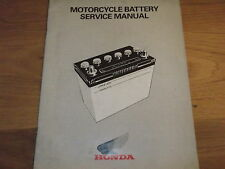 Honda , Motorcycle battery service manual
