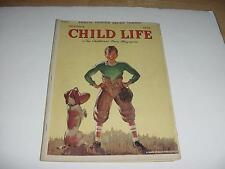 Vintage October 1939 HALLOWEEN CHILD LIFE Magazine w/Football Player w/Dog