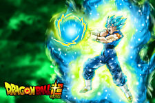 Dragon Ball Super Poster Goku Vegeta Fusion Vegito 12in x 18in Free Shipping