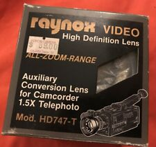 Raynox HD747-T Video 1.5x All Zoom Range Lens Camcorder Telephoto Conversion LEN