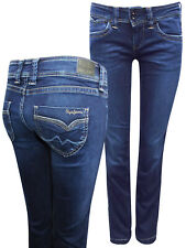 Pepe Jeans DARK-DENIM Banji Regular Fit Low Waist women's Denim Jeans MANY SIZES