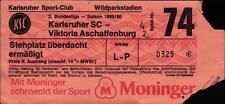 Ticket II. BL 85/86 Karlsruher SC - Viktoria Aschaffenburg
