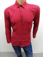Camicia TOMMY HILFIGER Uomo taglia XL camicetta shirt chemise maglia polo 5171