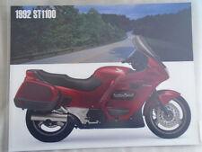 Brochures Paper ST Honda Motorcycle Manuals & Literature