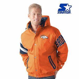 Denver Broncos Starter Knockout Full Zip Detachable Hooded Jacket