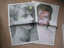 The Guardian UK Newspaper Dated 12/01/2016 David Bowie Death & Obituary UNREAD