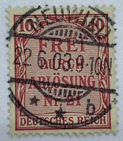 GERMANY PRUSSIAN OFFICIAL STAMP WITH NEUWIED SOCK ON THE NOSE CANCEL