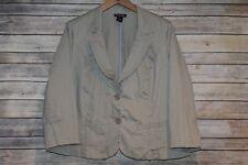 Lane Bryant Blazer Jacket Khaki Plus Size 22 HW3077