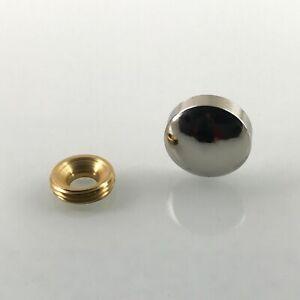 Mirror Brass Screw Decorative Caps Cover Nails Polished Chrome 2 Pcs Free Ship