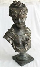 Antique 19 th. bronze bust.