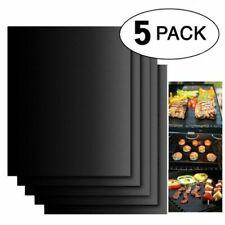 5pcs Tapis de barbecue Feuille de Cuisson BBQ Grill Réutilisable Anti-adhésif FR