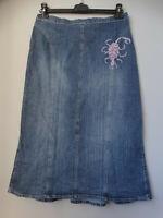 Gonna longuette di jeans GIULIA GALANTI Made in Italy SCORPIONE STRASS M/L 42/44