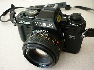 Minolta X-700 SLR Camera with 280PK flash & Carry Case.