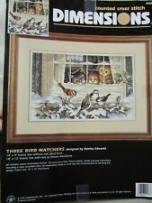 Dimensions Counted Cross-Stitch -PATTERN ONLY - THREE BIRD WATHCHERS