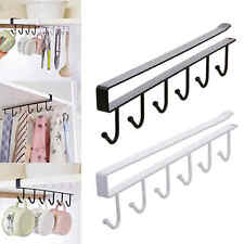 100% Quality Dsha New Hot Silver Tone Metal 6 Hooks Towel Handbag Rack Wall Hanger W Screws Bathroom Fixtures