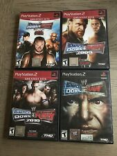 Lot of 4 WWE SmackDown vs Raw Playstation 2 Ps2 Wrestling games CIB/TESTED