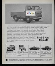 NISSAN MOTOR COMPANY JAPAN 1965 CABALL PICKUP TRUCK 2 TON CARRIER AD