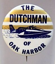 1967 THE DUTCHMAN horizontal TOP stripes Hydroplane pinback button STRAIGHT PIN