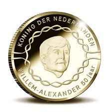 20 Euro Niederlande 2017 50. Geb. Willem Alexander PP Gold Holz- Etui