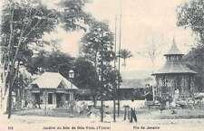 Rio de Janeiro Brazil Garden Park Alto da Boa Vista Antique Postcard J48644