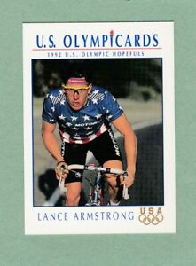 LANCE ARMSTRONG ROOKIE CARD 1992 US OLYMPIC HOPEFULS IMPEL CARD #31