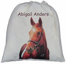 Personalizzato-Cavallo DESIGN-GRANDE Cotone Coulisse Borsa-Pony