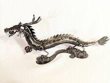 Hand Crafted Scrap Metal Dragon Art Welding Sculpture