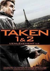 Taken 1  2 (DVD, 2014, 2-Disc Set,Bilingual) Brand New Free Shipping In Canada