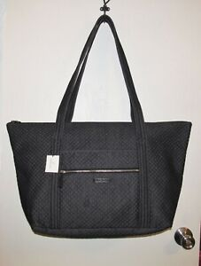 NWT Vera Bradley Miller Travel Bag X-Lg Tote Shoulder Bag in Dark Navy Denim