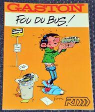 BD GASTON Lagaffe - Fou du Bus (RTM) EO 1987 - Broché