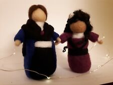 "OOAK Needle Felted Dolls Waldorf Style Handcrafted (wool, 5-6"" tall)"