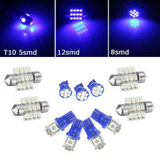 11pcs Car Interior LED Lights Package Kit T10 & 31mm For Map Dome Lamp Bulb Blue