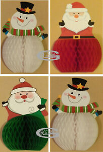 Happy Xmas Santa Father Snowman 3D Standing Eco Card Paper Decoration Home Party
