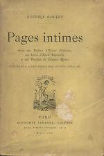 Eugène GAULEY.Pages Intimes.Poésies.Portrait eau-forte de Eugène Delatre