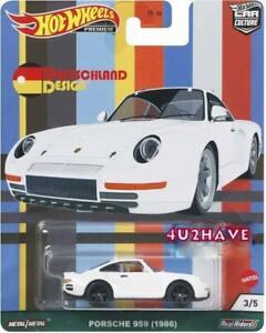 Hot Wheels 2021 Car Culture Deutschland Design C Case Porsche 959 1986