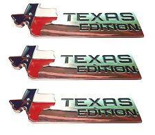 THREE-XL TEXAS EDITION Emblem Badge Ford 150 250 350 Tailgate Universal StickOn