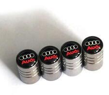Universal Car Wheel Tire Air Valve Stems Caps Dust Cover Logo Emblem For Audi