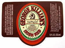 Coors Brewing Co GEORGE KILLIAN'S IRISH RED beer label CO 12oz No ABV, CRVs, UPC