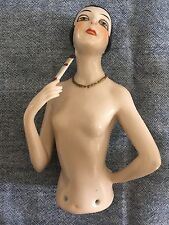 "Antique Wonderful Large Flapper Half Lady 5 1/2"" Half Lady Doll  WHAT A DOLL!"
