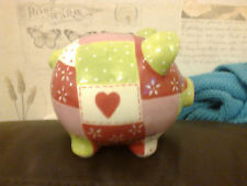 LIMITED EDITION MARKS & SPENCER PERCY PIG PIGGY BANK 2009 W STOPPER RED GREEN