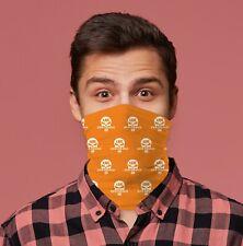 Zed Headz Orange Design Biker Schal Halsrohr Halswärmer Gesichtsmaske
